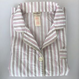Bed Head striped pink and white pyjama set